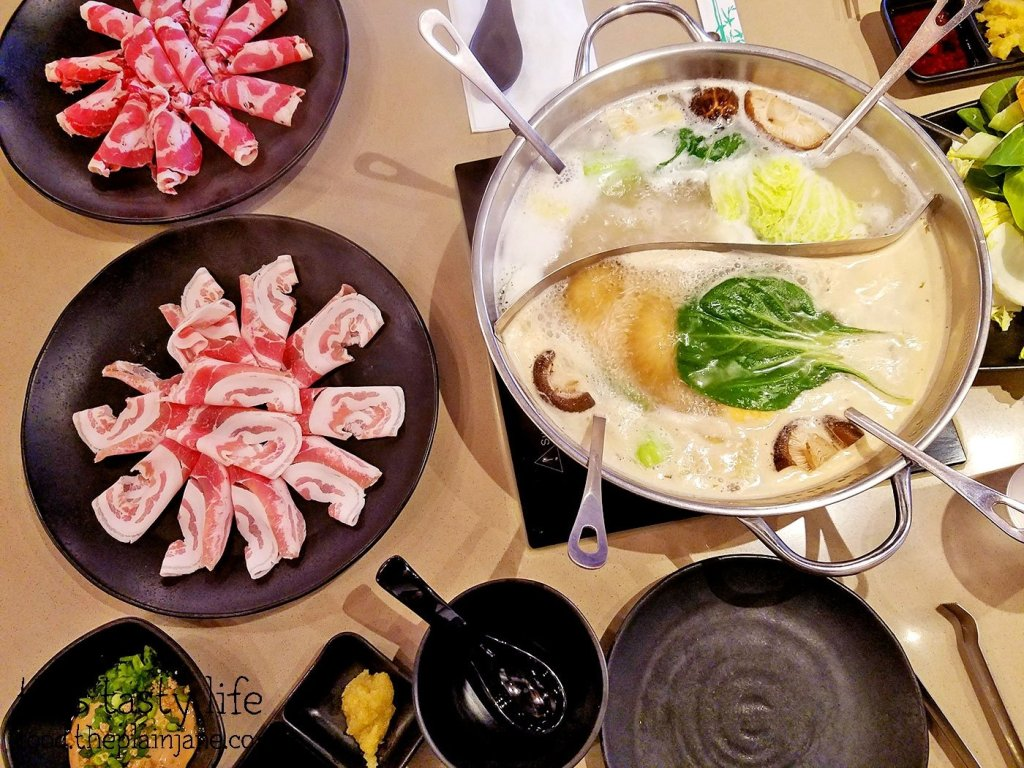 Simmering hot pot at Shabu Works - Mira Mesa - San Diego, CA