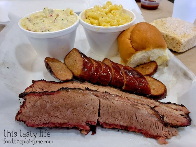Brisket and Smoked Sausage at Union Smokehouse BBQ - San Diego, CA