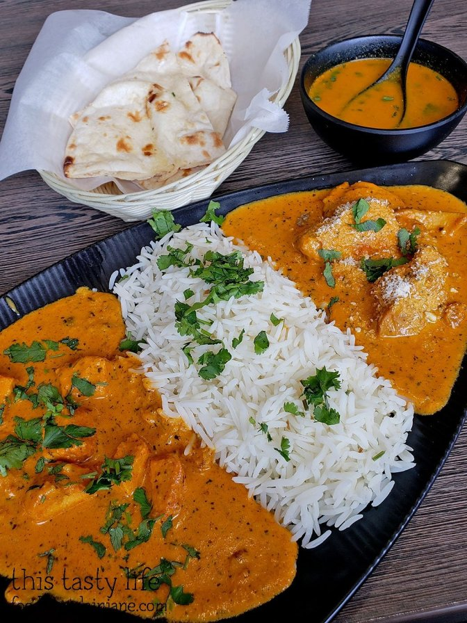 Chicken Korma & Chicken Tikka Masala lunch special at Curry N Kabab - San Diego, CA