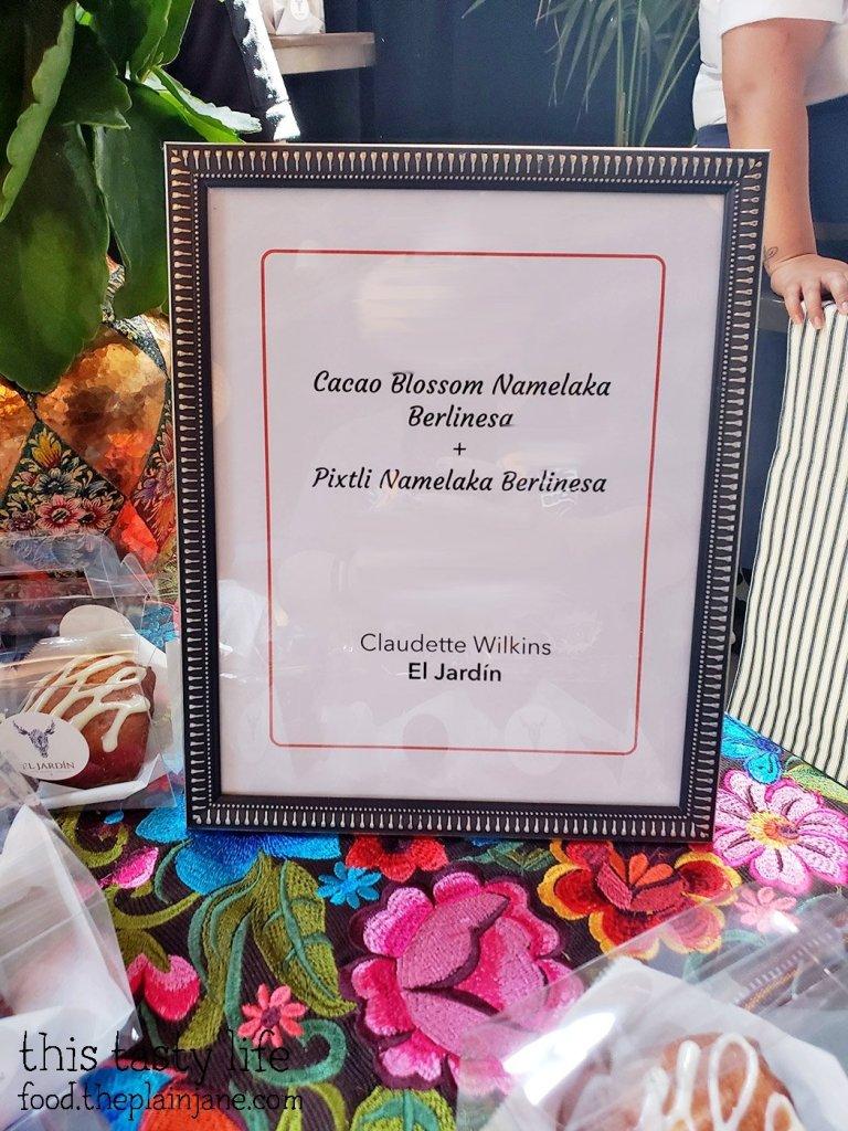 El Jardin menu at Chef Driven Bake Sale - San Diego, CA