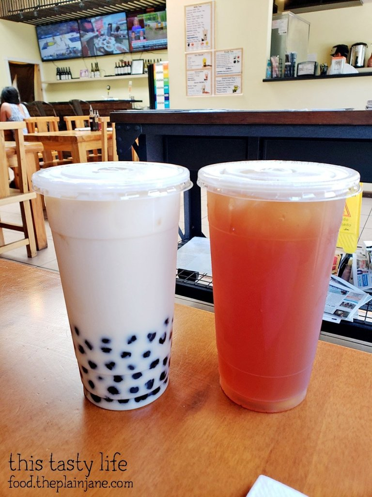 Honey Milk Tea and Lychee Tea at Great Wow - Hillcrest - San Diego, CA