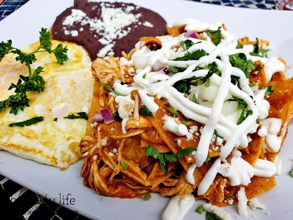 Chilaquiles at The Lazy Hippo - San Diego, CA