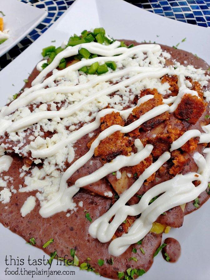 Enfrijoladas with Chorizo at The Lazy Hippo - San Diego, CA