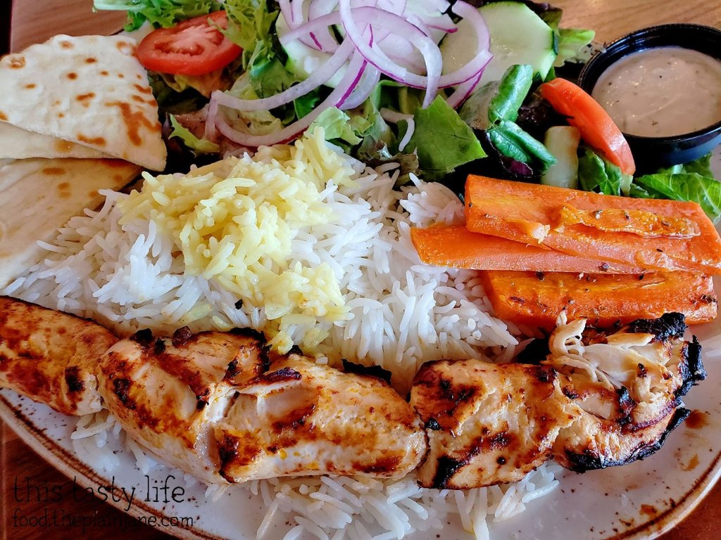 Chicken Kabob Plate at Luna Grill - San Diego, CA