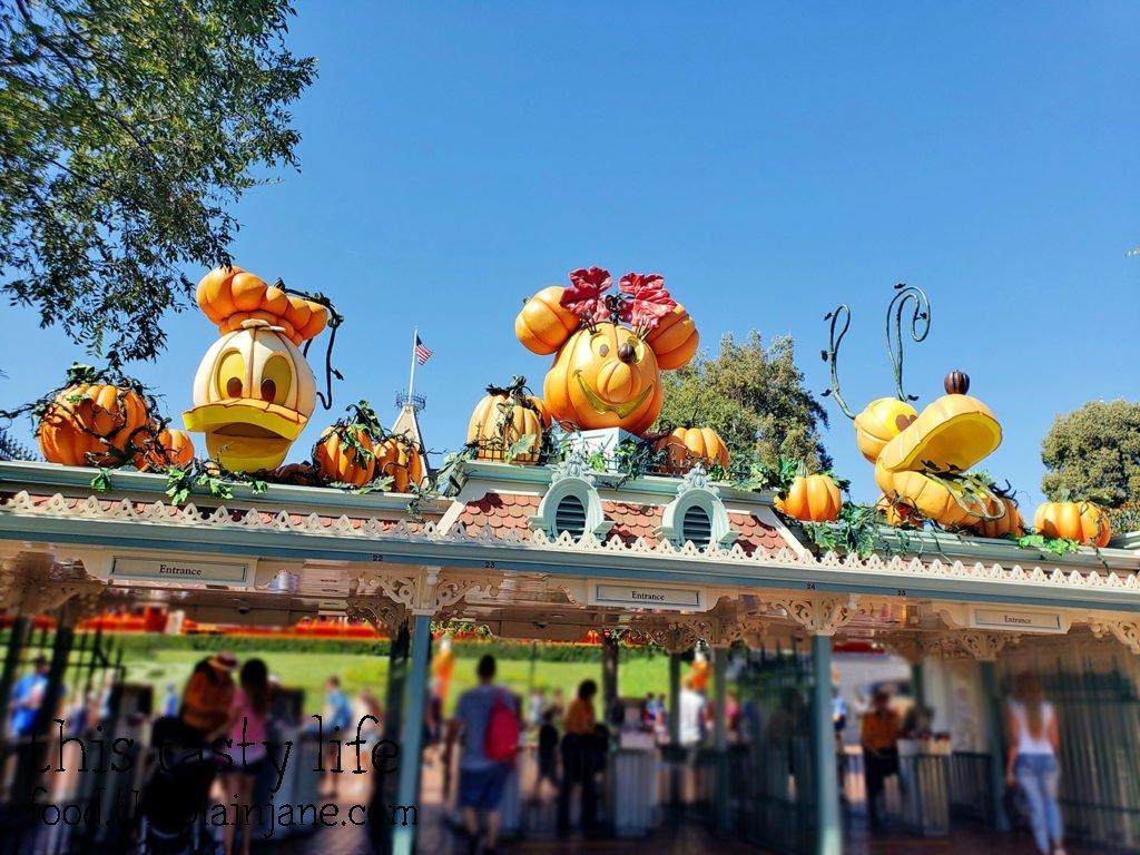 Entrance to Disneyland at Halloween Time