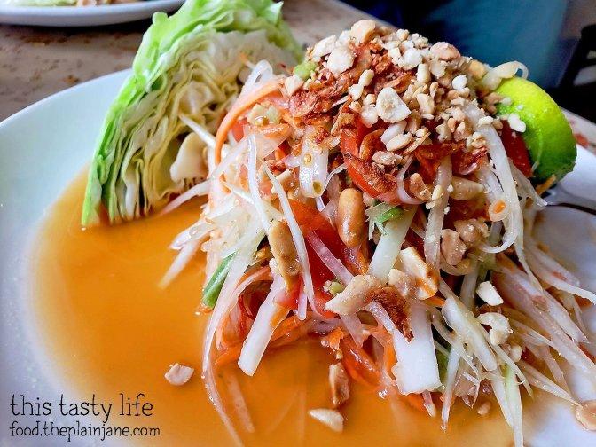 Thai Papaya Salad - Lann Boon Asia Cafe - San Diego, CA