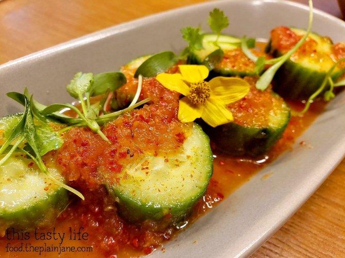 Cucumber Kimchi at Bibigo Kitchen