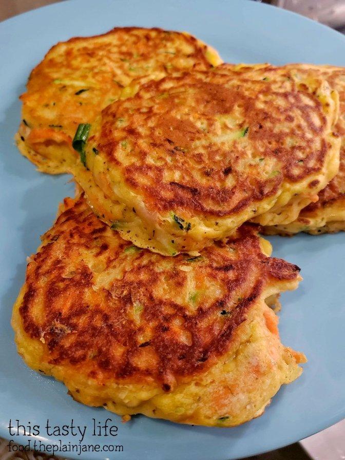 Homemade Carrot Zucchini Pancakes