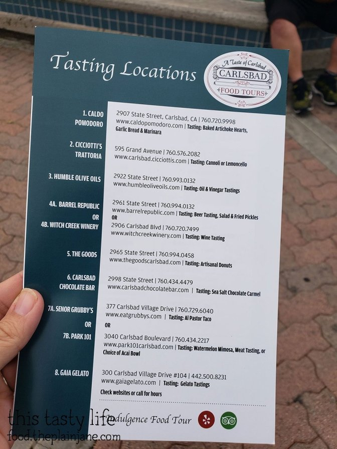 Carlsbad Food Tours locations