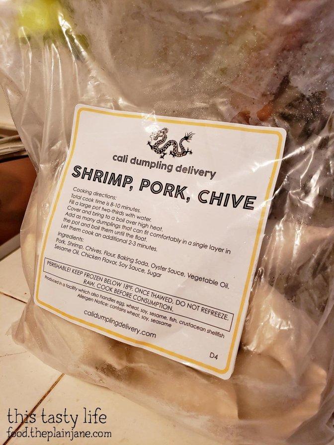 Shrimp Pork Chive Dumplings - Cali Dumpling Delivery