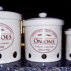 Kitchen Canisters Ceramic Ikea Cabinets Sale Short-term Storage Of Potatoes, Onions & Garlic