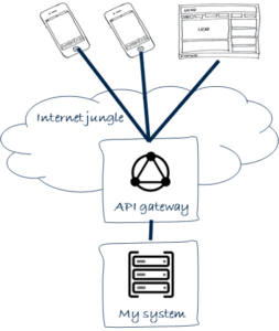intermediate layer between the internet and internal IS
