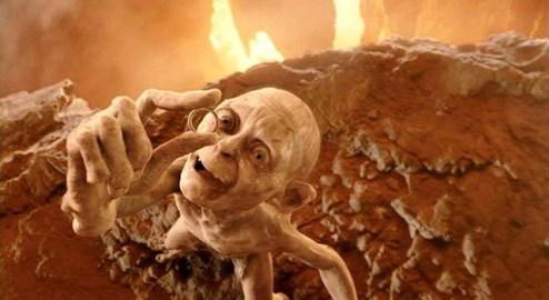 Gollum holding ring