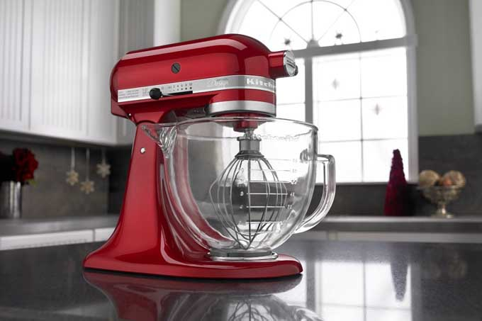 kitchen aid 5 qt mixer curtain kitchenaid quart artisan design series excellent for stress free ksm155gb stand with glass bowl review