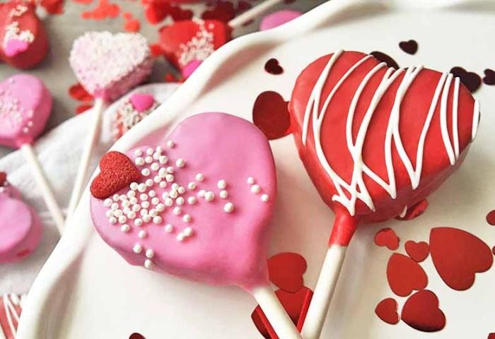 Valentines Day Heart Cake Pops Homemade Recipe Foodal