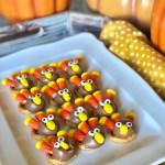 Gluten Free, Peanut Free, Tree Nut Free Allergy Friendly Rolo Pretzel Turkey's are a great kid friendly Thanksgiving holiday treat, snack or dessert