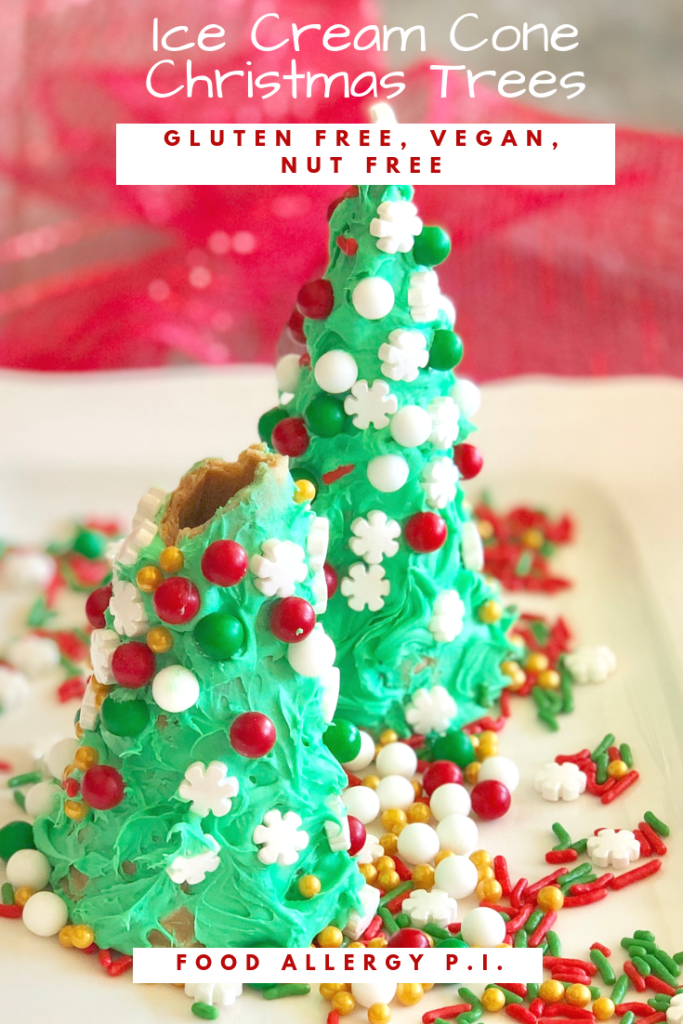 Ice Cream Cone Christmas Trees Gluten Free, Vegan & Nut Free Allergy Friendly