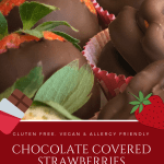 Chocolate Covered Strawberries | Gluten Free, Vegan, Dairy Free, Egg Free, Nut Free, Top 8 Free, Allergy Friendly