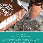 Chocolate Chocolate Banana Smoothie   Vegan, Nut Free, Oatmilk Dairy Free #ad