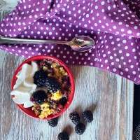 3 Ingredient Fruit Cobbler
