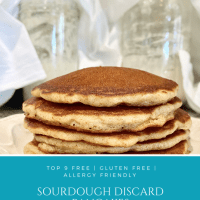 Sourdough Discard Pancakes | Whole Wheat | All-Purpose | Gluten Free | Allergy Friendly & Top 9 Free