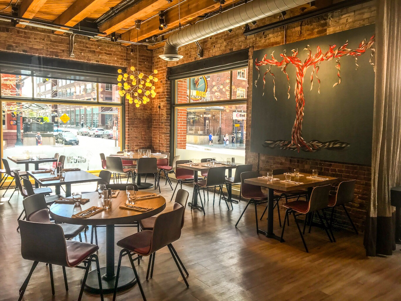 Chow Morso Osteria dining room in lower downtown Denver, CO