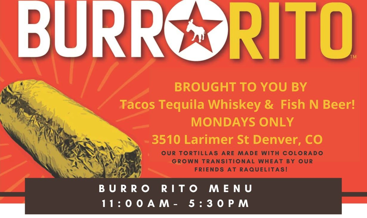 A wood-fired Mission-style burrito loving pop-up brought to you by Tacos Tequila Whiskey & Fish N Beer.