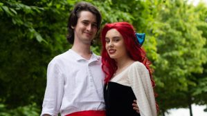 Ariel and Prince Eric / The Little Mermaid by nonplayercactus & promqueencarrie