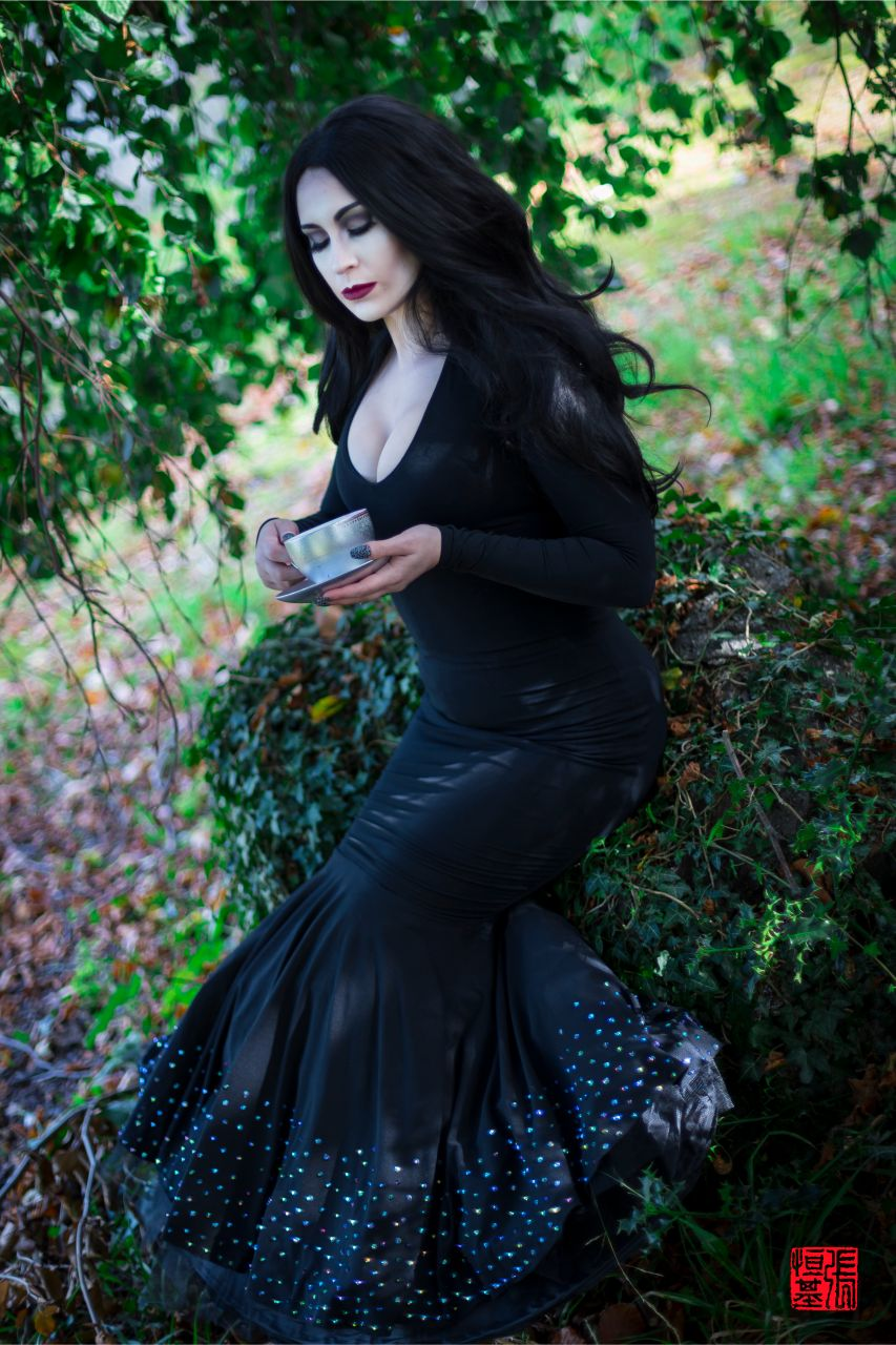 Morticia Addams / The Addams Family by Mojo Jones