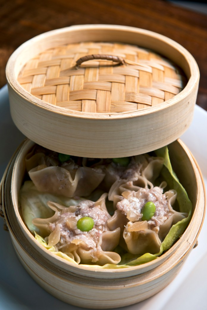 Pork and crab steamed dumplings