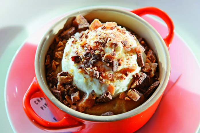 Salted butterscoth pudding