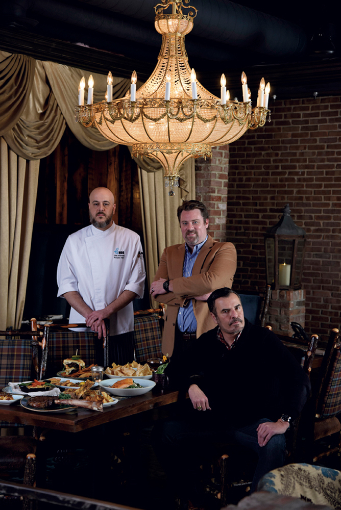 (from left) Executive Chef Chip Lawrence, General Manager Chris Fenton and owner Kevin Grangier