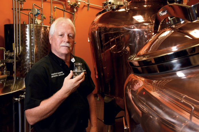 A 39-year-veteran with the Heaven Hill family, Master Distiller Charlie Downs oversees the microdistillery at the Evan Williams Bourbon Experience in downtown Louisville