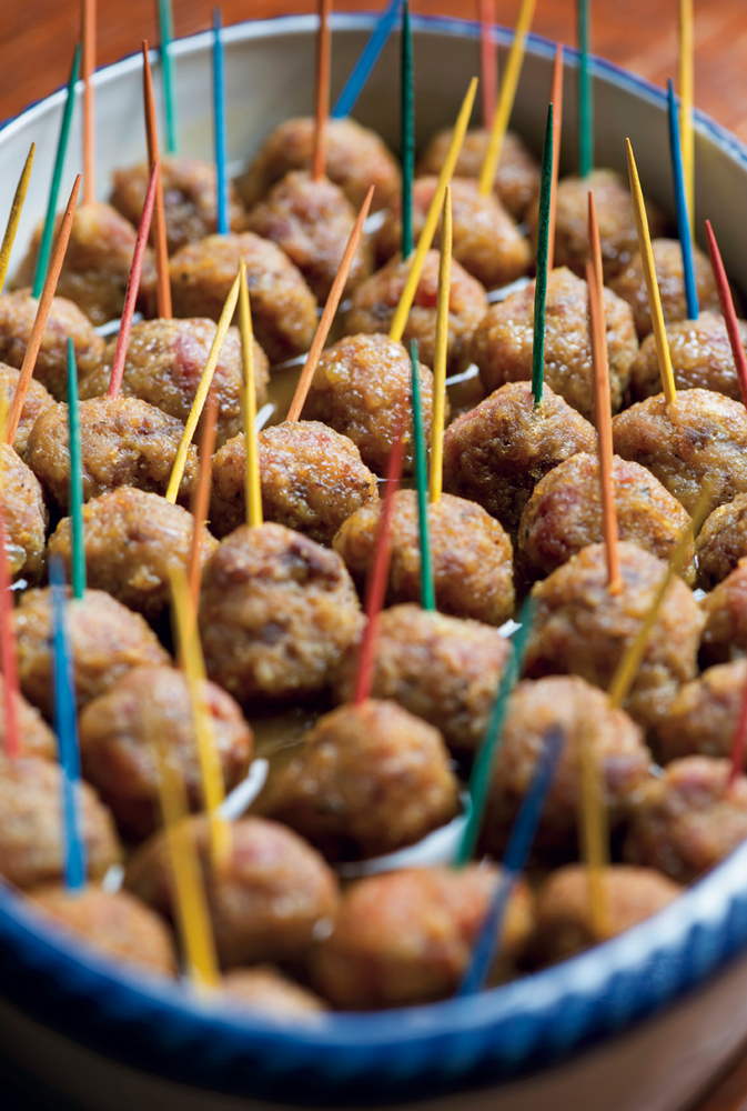 Country ham balls