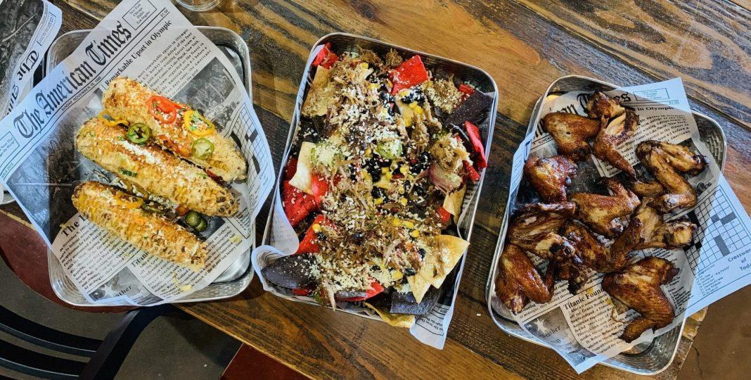 Diamonds Mexican Street Corn, Pork Nachos and Koren BBQ Wings