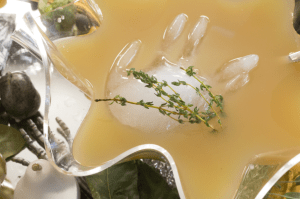 """Nadia's """"severed hand"""" looks great in a Witches Brew cocktail punch"""