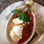 House-made smoked mozzarella app