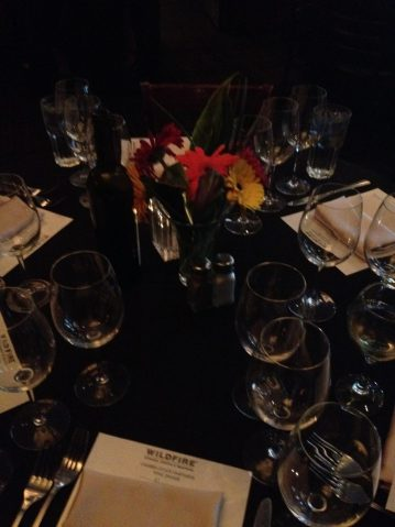 Wildfire wine dinner place settings