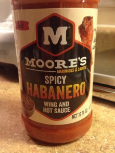 Moores Habanero sauce - spice and vinegar