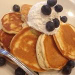 The finished ricotta lemon pancakes - fabulous