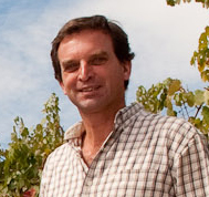Charles Symington in the vineyard
