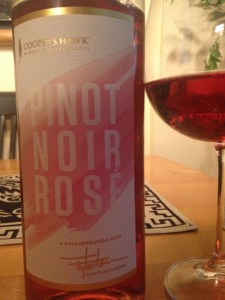 Cooper's Hawk rosé made from Pinot Noir grapes