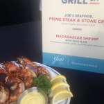 Joe's Seafood's scrumptpious grilled giant shrimp