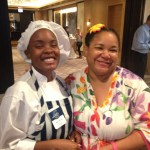 Deja Dorns (left) won aTrotter Project internship at mfk Restaurant