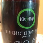 Just one of Pod & Bean's cocoa-infused products - blackberry-chipotle sauce