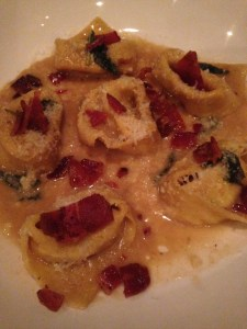 Baconfest winner - agnolooti with sage and brown butter