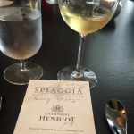 Henriot pairings with Spiaggia pasta