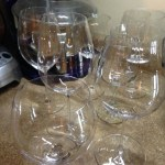 Riedel large wineglasses from 3 lines