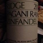 Sonoma Ridge 2016 Pagani Ranch zinfandel