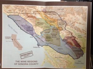 Map of Sonoma County wine region